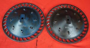 2 Row Ford Corn Cotton Planter Metal Seed Plate Pair