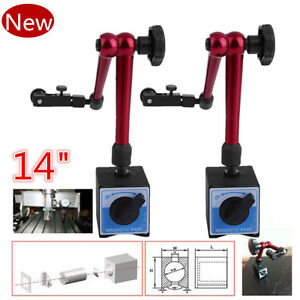 2pc Universal Magnetic Base Stand Holder For Digital Level Dial Test Indicator Y