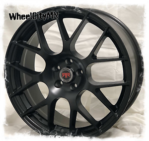 20 Inch Black Revolution Racing R6 Wheels Ford Fusion Mustang Edge Taurus 5x4 5