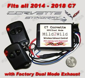 2014 2019 C7 Corvette Stingray Mild 2 Wild Exhaust Control Free Usa Shipping