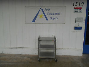 Vollrath Stainless 3 Shelf Folding Utility Cart Model 97171 2207