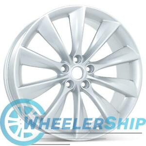 New 21 X 8 5 Front Wheel For Tesla Model S 2012 2017 Silver Rim 98727
