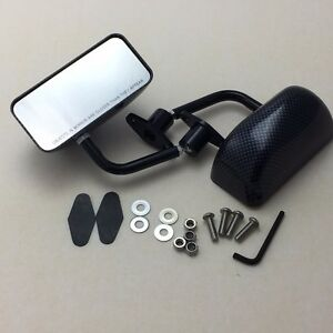 F3 Racing Side Mirrors Black Carbon Sheet Dipping For Jetta Beetle Mk3 Mk4 Mk5