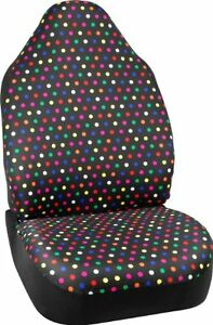 Automotive Universal Rainbow Polka Dot Car Seat Cover Suv Van Truck Protector