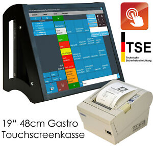 Pro Touchscreen Checkout Cash Register System For Retail Gastronomy Black Ka15