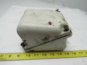 Diagonally Split Cast Iron Electric Motor Terminal Conduit Box W cover