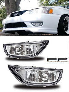 2001 2002 Toyota Corolla Replacement Fog Lights Lamp Clear Lens Housing Pair