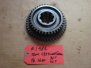 Ford 1600 Tractor Transmission C s Slide Gear 38t 46t Ref Sba322360030