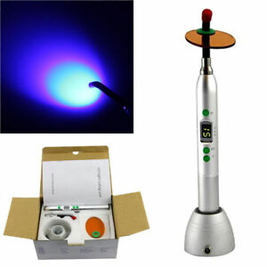 5w Dental Wireless Led Curing Light Lamp 1200mw Cicada Cv 215 Blue And Siliver