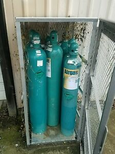 Justrite 23006 Welded Aluminum 10 Compressed Gas Cylinder Vertical Locker 30