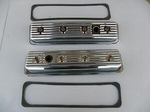 1987 97 Small Block Chevy 5 0 5 7 Short Style Chrome Valve Covers Center Bolts