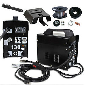 105 Amp Mig130 Flux Core Auto Feed Welding Machine Welder W spool Wire