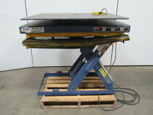 Autoquip 36s25 2500 Lb Lift Table W 48 x42 Turn Table 10 46 Ht Range