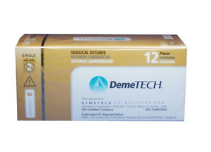 Demetech Chromic Catgut Surgical Sutures Reverse Cutting 12 Pcs