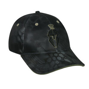 KRYPTEK  Tactical Camo Typhon Black wHelmet Logo Hunting Target Shooting Hat