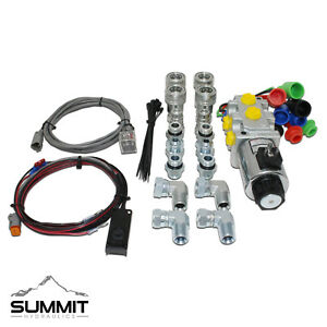 Hydraulic Multiplier Selector Diverter Valve Kit W Switch Couplers 10 Sae