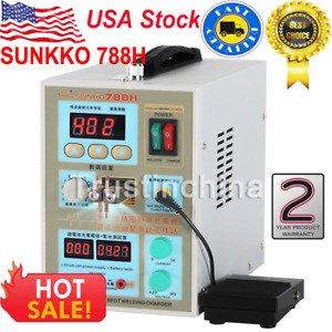 788h Led Dual Pulse Spot Welder 18650 Battery Charger 800 A 0 1 0 2 Mm 36v 60a