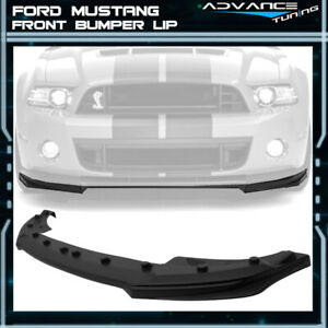 For 10 14 Ford Mustang Shelby Gt500 Oe Style Front Bumper Lip Unpainted Pp