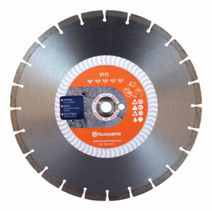 Husqvarna Vh5 14 In Dia Diamond Saw Blade For Wet dry