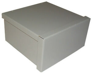 Raco Screw Cover Box Rainproof 8 x8 x4 Gray Bulk Pack 1
