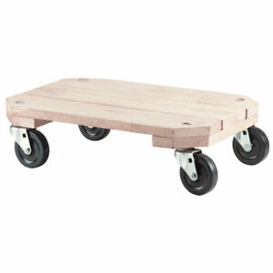 Shepherd 9854 Solid Wood Furniture Dolly 12 1 2 H X 18 1 4 W X 25 L In