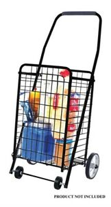 Apex 37 In H X 12 1 2 In W X 10 1 2 In L Collapsible Shopping Cart Black