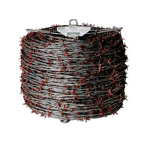 Red Brand Barbed Wire 1320 Red Galvanized Steel