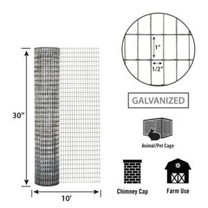 Garden Zone Welded Wire 30 X 10 16 Ga 1 2 X 1 Mesh