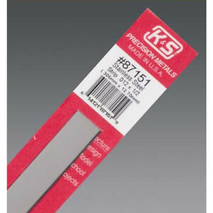 K s 87151 Stainless Steel Strips 0 012 X 1 2 X 12 In