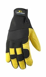 Wells Lamont Leather Work Gloves Insulated Grain Deerskin Large Free Shipping