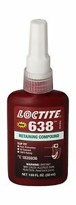 Loctite 21448 Green 638 High Strength Retaining Compound 50 Ml Free Shipping