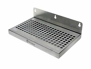Beer Drip Tray 10 Stainless Steel Wall Mount No Drain Free Shipping