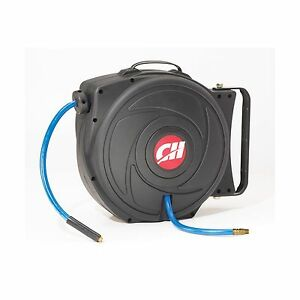 Campbell Hausfeld Retractable Air Hose Reel Includes 50ft Hose Free Shipping