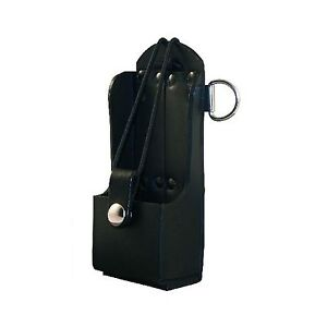 Boston Leather Radio Holder Plain Black Free Shipping
