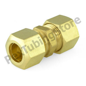 100 1 4 X 1 4 Od Tube lead free Brass Compression Union Fittings
