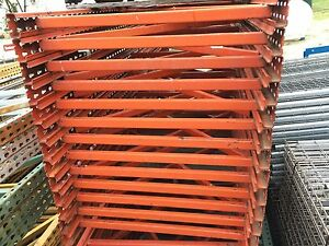 Pallet Rack Upright 33 1 2 X 96 Orange Paltier Style