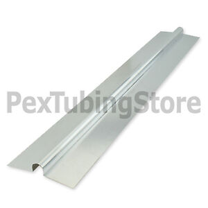 100 2ft Aluminum Radiant Floor Heat Transfer Plates For 1 2 Pex Tubing