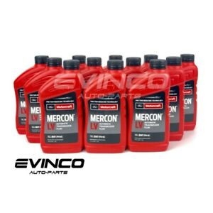 Motorcraft Mercon Lv Automatic Transmission Fluid Xt 10 Qlvc Case Of 12 Quarts
