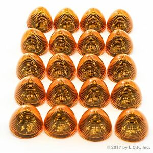 20 New 2 Amber Led Beehive Side Clearance Marker Lights Trailer Auto Bright