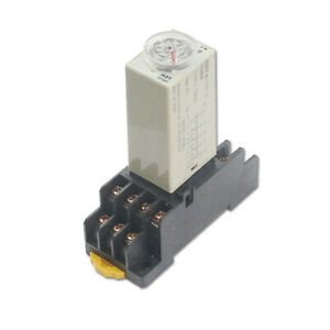 H3y 2 Dpdt Power On Time Delay Relay Timer W Socket 3 5 10 30 60s 3 5 10 30 60m