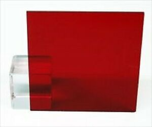 Red Transparent Acrylic Plexiglass Sheet 1 8 X 12 X 12 2423