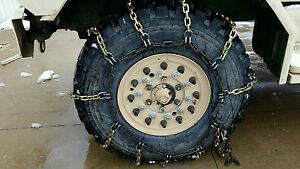 Heavy Duty Military Truck Heavy Equipment Tire Chains New 122 l 31 w New