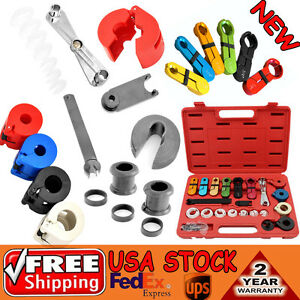 22pcs A C Transmission Fuel Air Line Disconnect Tool Kit For Ford Gm Case Nice