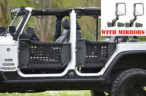 Jeep Wrangler Trail Doors W Nylon Web 07 17 4 Doors 2 Mirrors