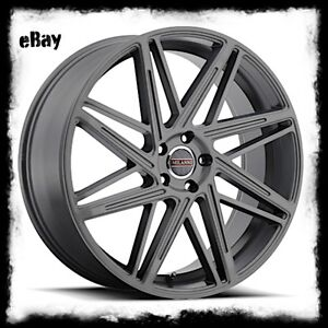 22 X9 Inch Anthracite Milanni 9062 Blitz Wheels Rims Fits Bmw X3 X5 5x120 35