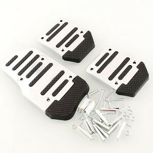 3pcs Non Slip Pedal Foot Treadle Cover Car Auto Foot Treadle Car Accessories