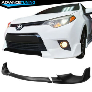 Fits 14 16 Toyota Corolla Base Model Front Bumper Lip 3 Pieces Pu Urethane