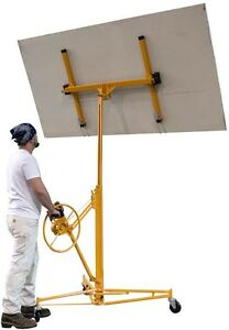 Drywall Sheets Panel Hoist Rolling Casters Grade Heavy Duty Construction Tool