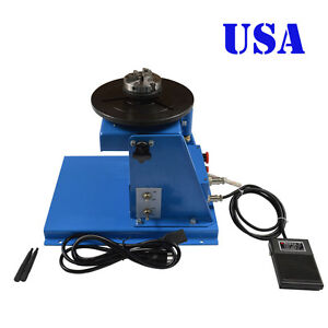 Usa Seller 110v 10kg Light Duty Welding Turntable Positioner With 65mm Chuck
