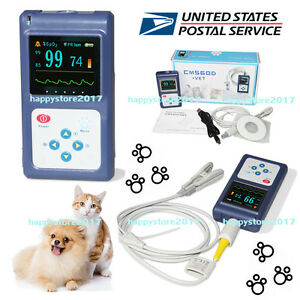 Usa Veterinary Pulse Oximeter Cms60d vet tongue Spo2 Probe pc Software Animal